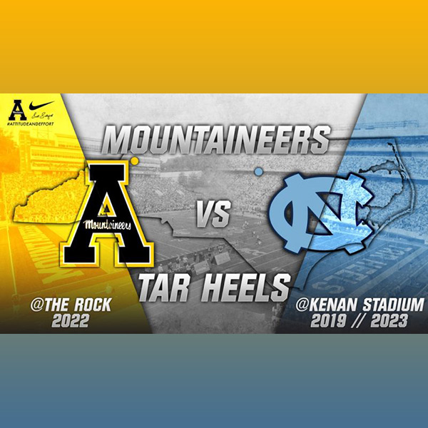 App State-UNC Announce Three-Game Football Series