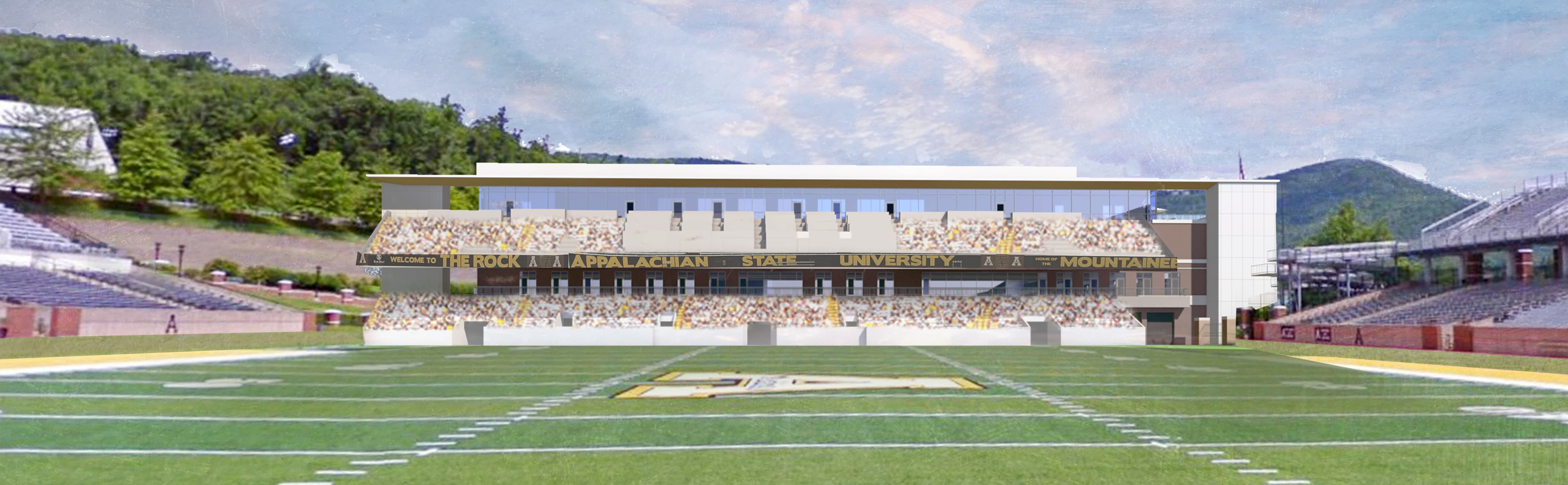 Rendering of north end zone project
