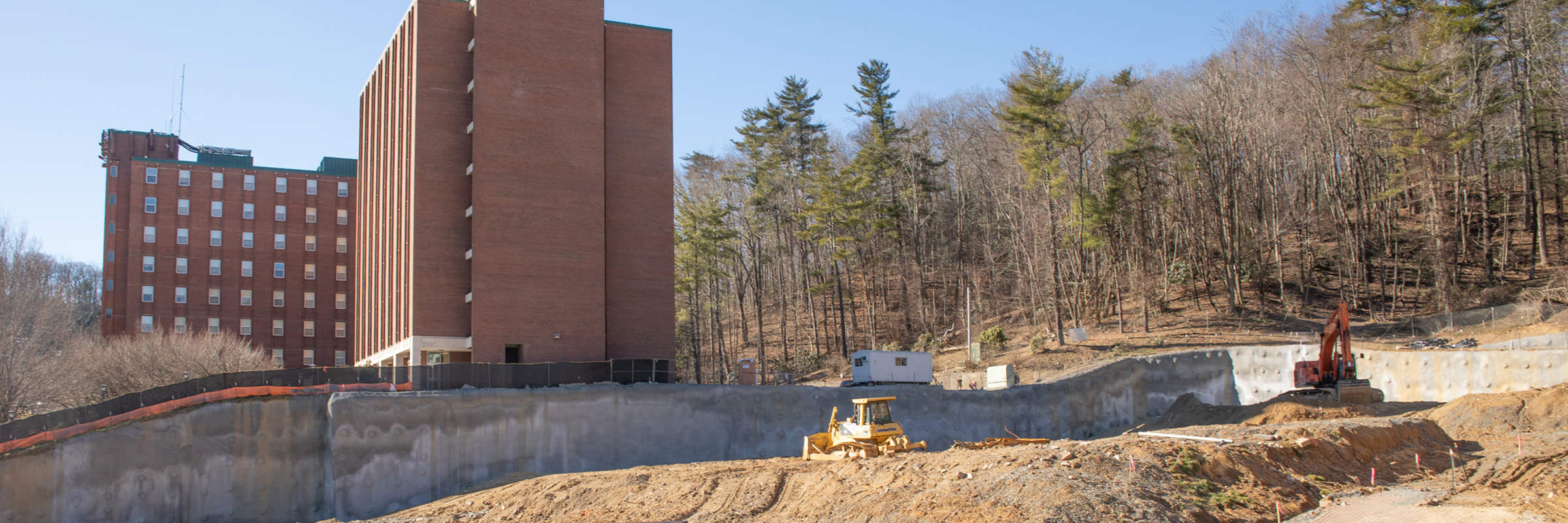 Construction on west side of campus