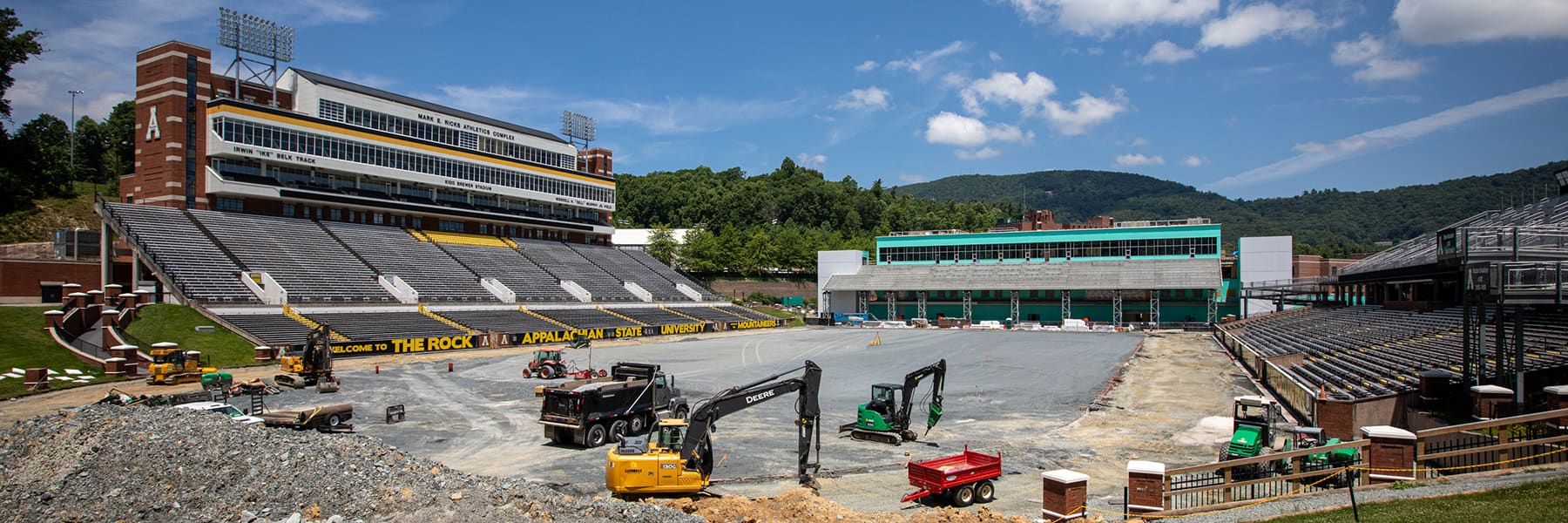 North end zone construction