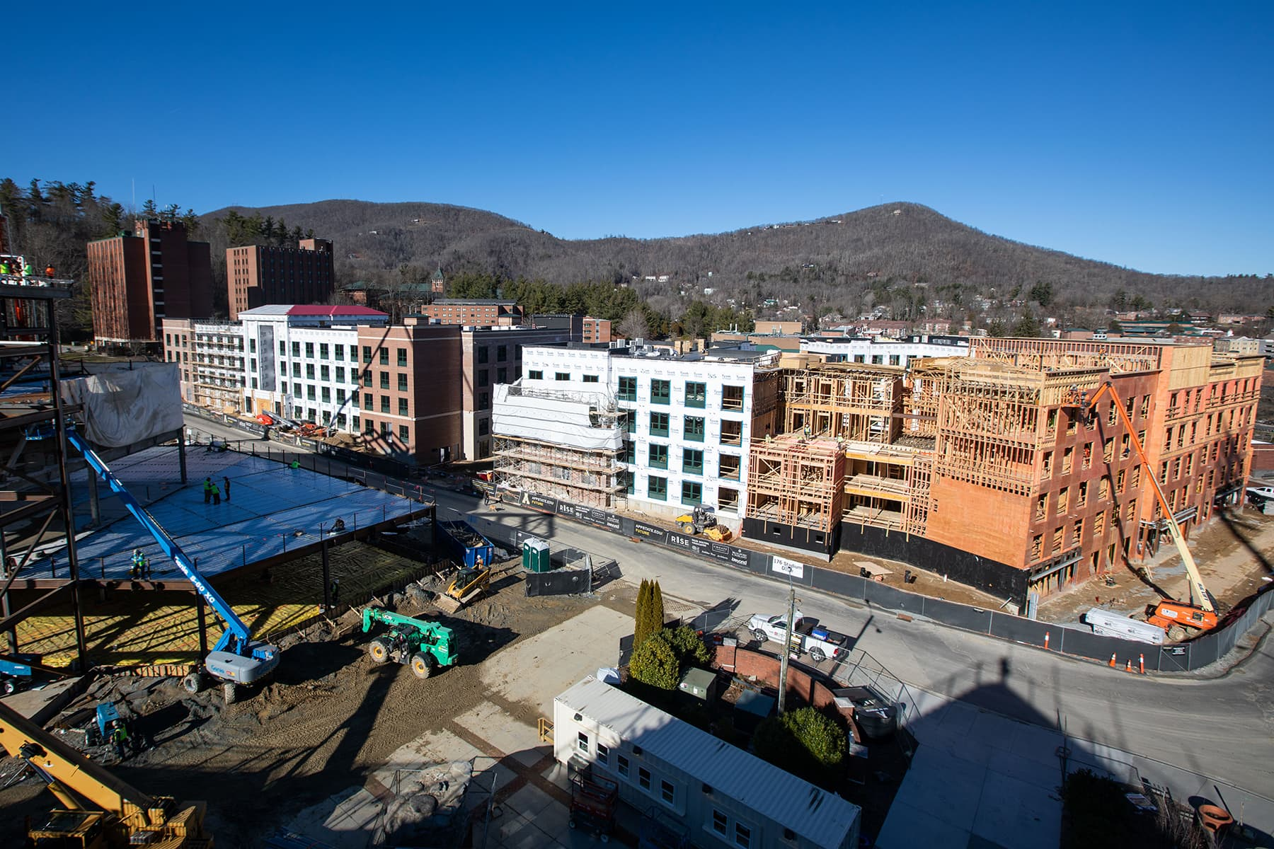 Residence Halls site construction