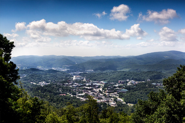 Boone NC from Howard's Knob